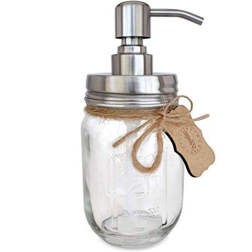 Premium Stainless Steel Soap Modern Bonus Chalk oz Glass