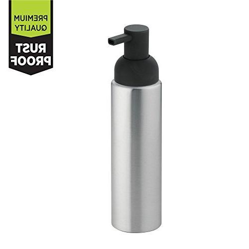 mDesign Aluminum Liquid Soap Kitchen Countertops - of Charcoal