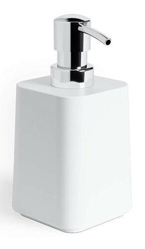 scillae refillable soap pump dispenser white 1010024