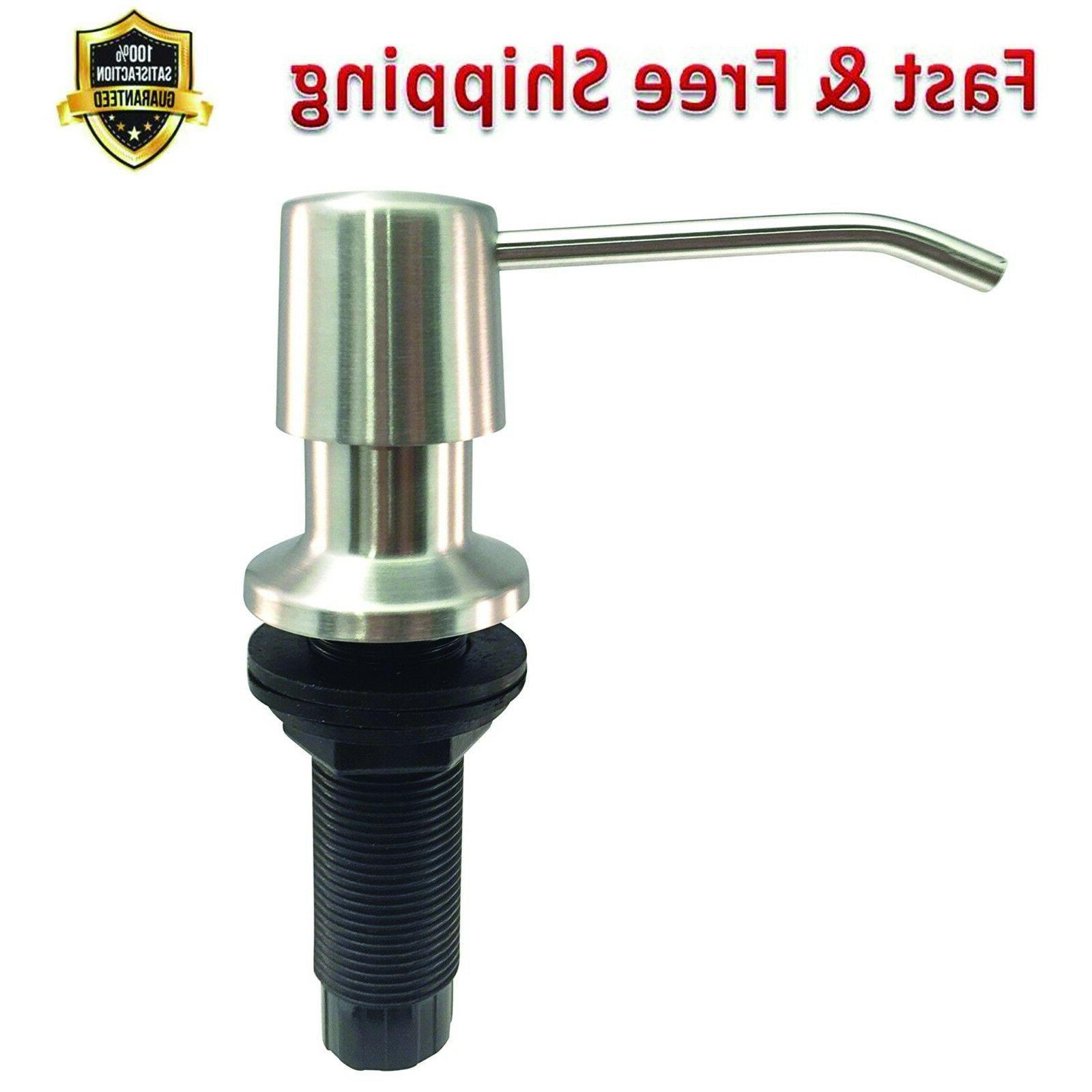 sink soap dispenser durable stainless steel satin