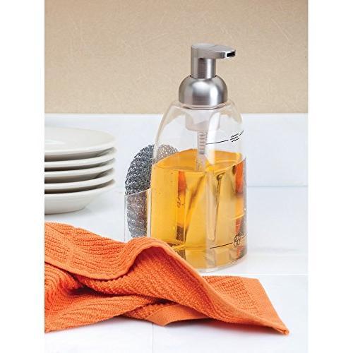 InterDesign Dispenser - Kitchen Organizer, Clear/Brushed Nickel