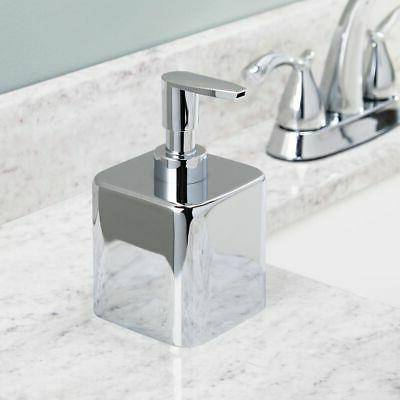 small square metal refillable liquid hand soap