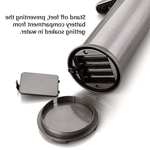 Soap dispenser, Touchless Stainless Steel Fingerprint Resistant IR Sensor Free Dispenser Perfect Bathroom