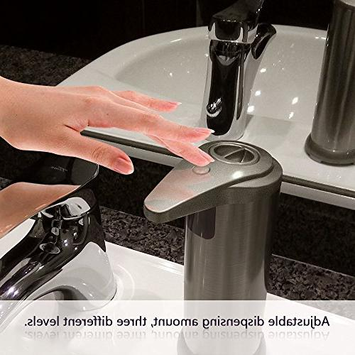 Soap dispenser, Touchless Resistant IR Hand Free Soap Perfect Bathroom