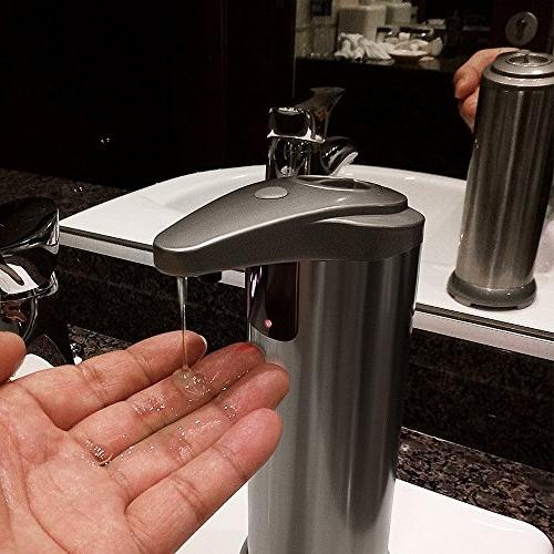 Soap dispenser, Automatic Touchless Stainless Resistant IR Hand Free Auto Soap Perfect Kitchen Bathroom