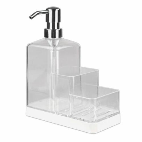 Home & Caddy Organizer, White-Clear, 8x3x6.5