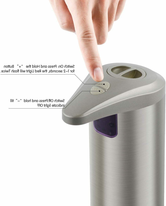 Soap dispenser, Touchless Stainless Steel Fingerprint Resistan