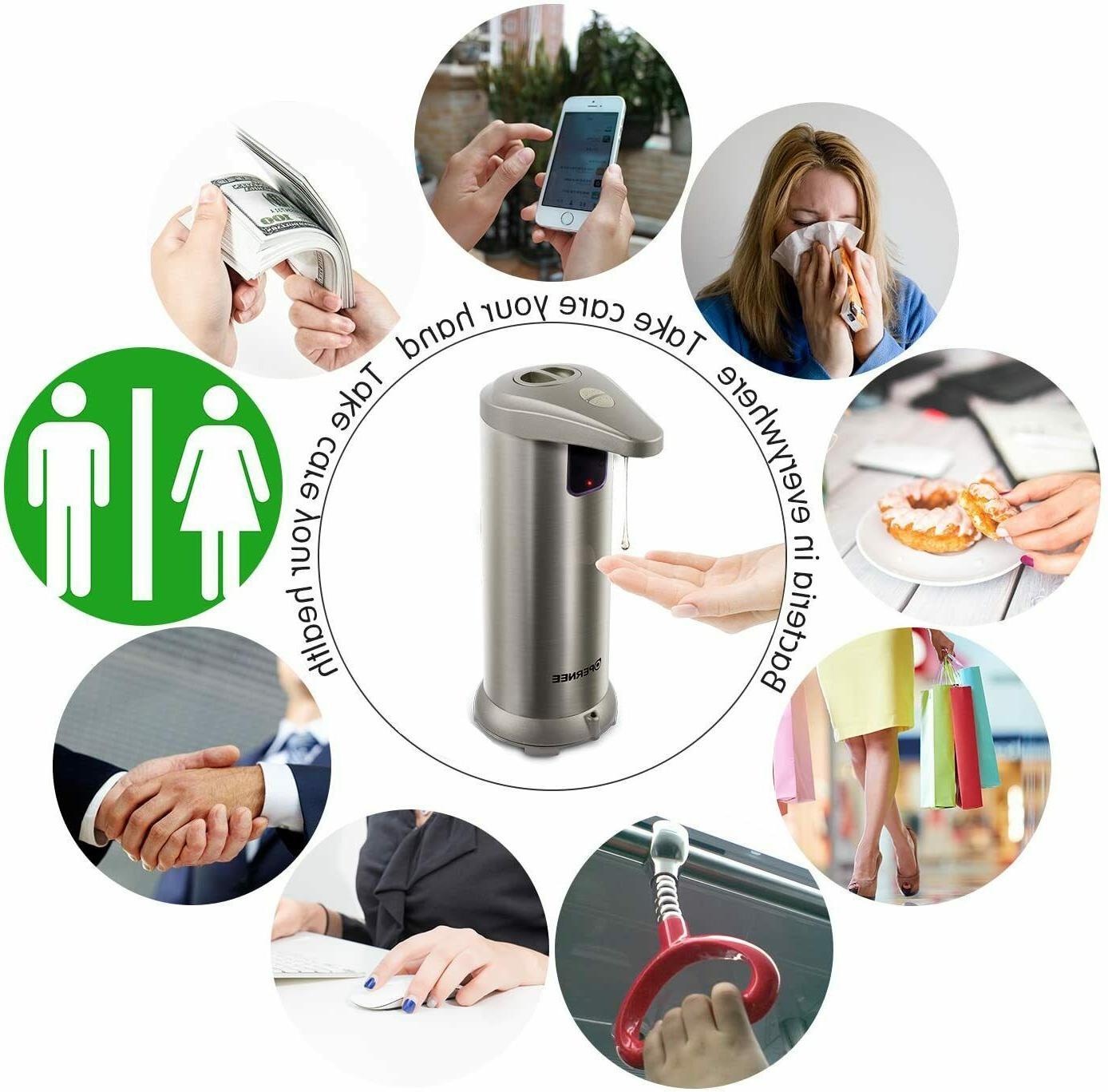 Soap dispenser, Touchless Stainless Steel Resistan