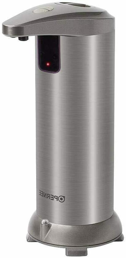 soap dispenser automatic touchless stainless steel fingerpri
