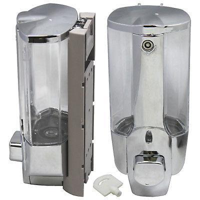 soap dispenser bathroom wall mount shower shampoo