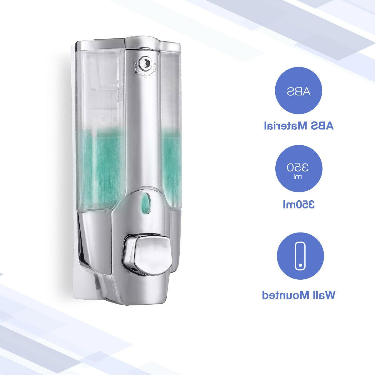 350ML Soap Dispenser Bathroom Wall Mount Shower Shampoo Loti