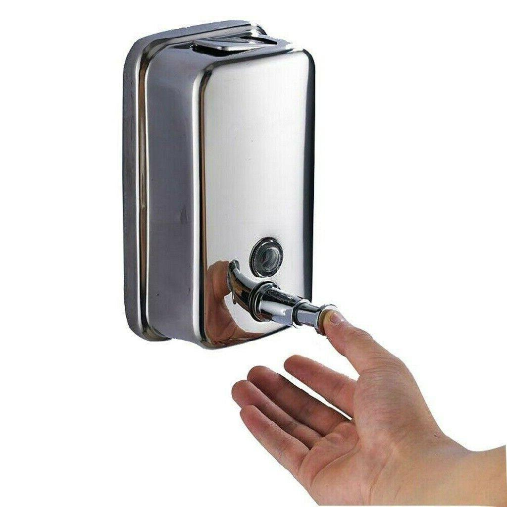 Wall Mount Soap Dispenser Bathroom Shower Lotion Shampoo Liq