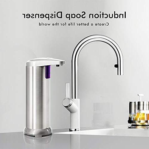 ELECHOK Soap Automatic Soap Infrared Motion Dish Hands-free Hand Soap Dispenser, Upgraded Waterproof