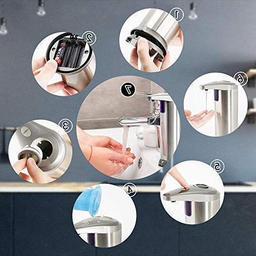 ELECHOK Soap Automatic Dispenser, Motion Hand Waterproof