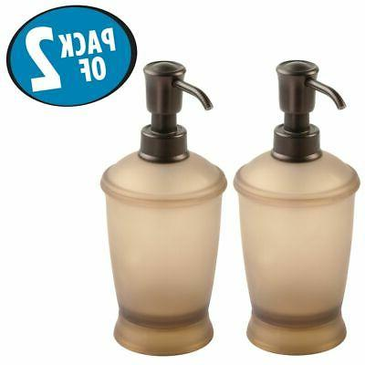mDesign Pump Bottle for Kitchen 2 Pack