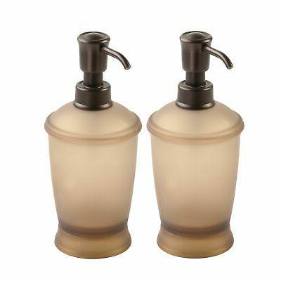 mDesign Soap Dispenser Bottle for 2 Pack