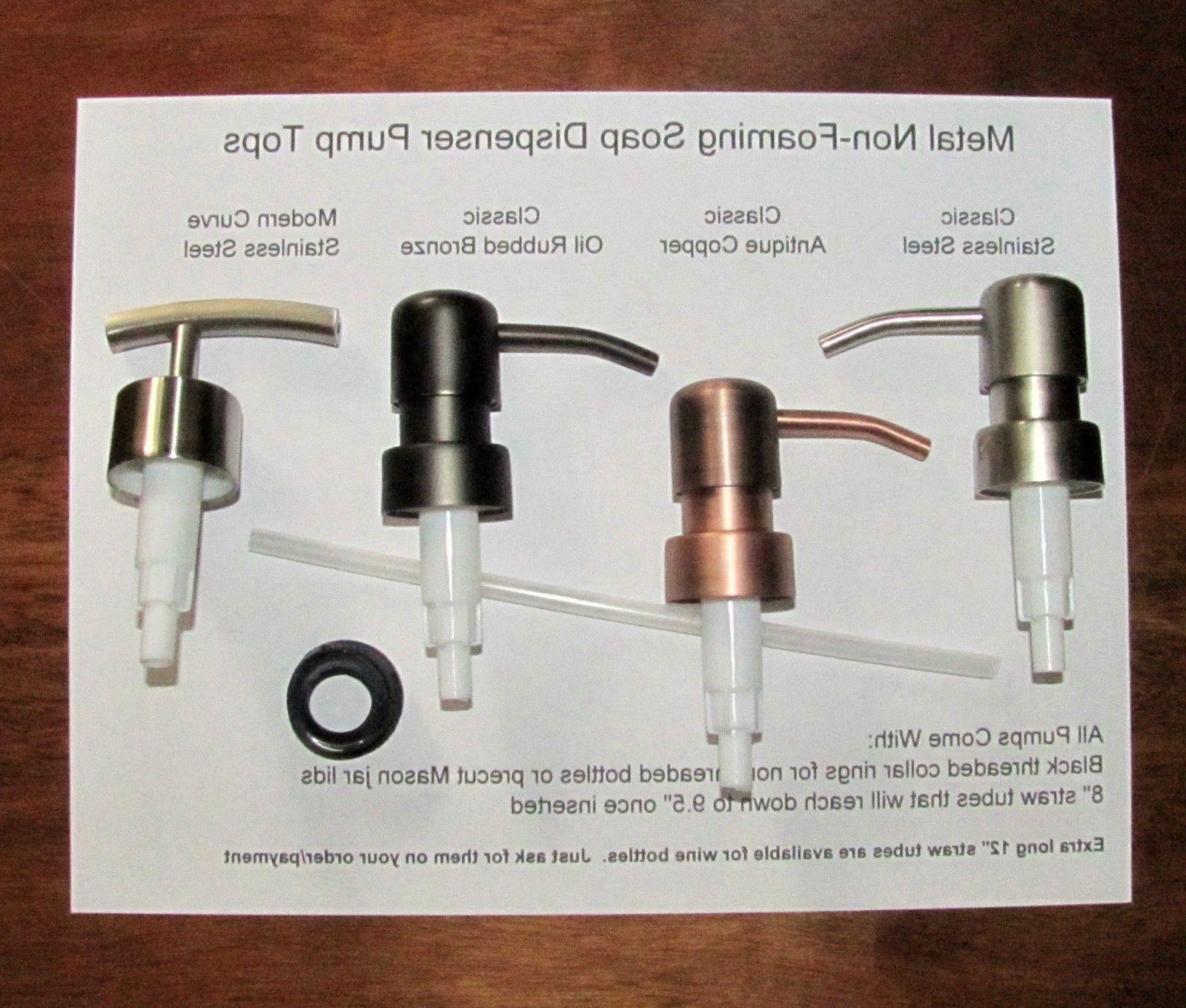 soap dispenser pump replacement wine liquor bottle