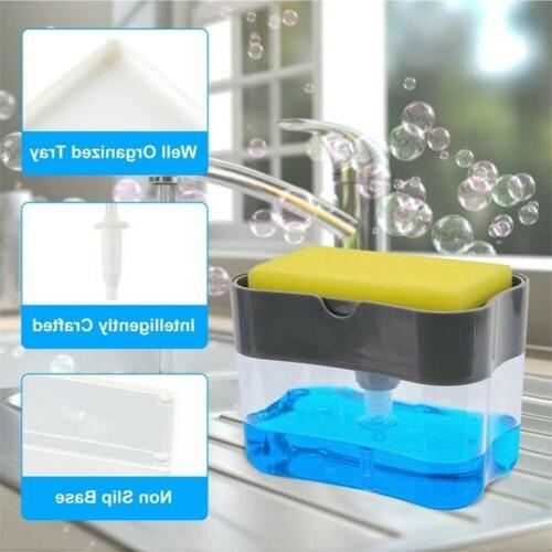 soap pump dispenser and sponge holder