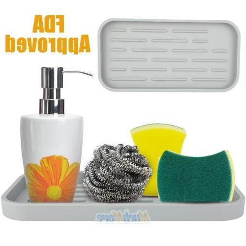 sponge holder tray kitchen sink organizer