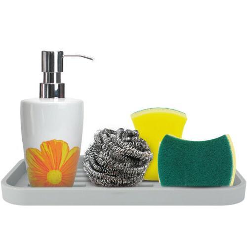 Large&Deep Kitchen Sponge Holder Silicone Sink Organizer Spo