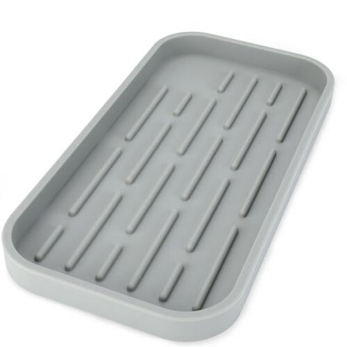 Sponge Holder Tray Kitchen Sink Organizer - For Sponges, Dispenser Large