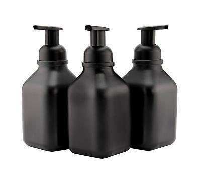 Cornucopia Soap Dispensers (3-Pack, Black-Coated Bottle...
