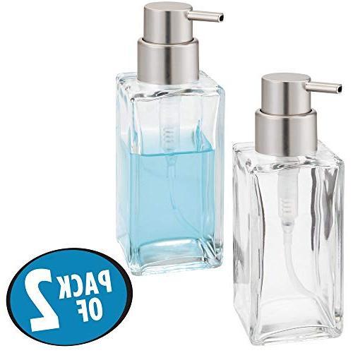 mDesign Glass Liquid Bottle Countertop, Holds Hand Soap, Dish Soap, Hand Oils 2 -