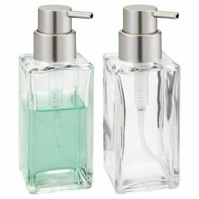 square glass refillable liquid soap