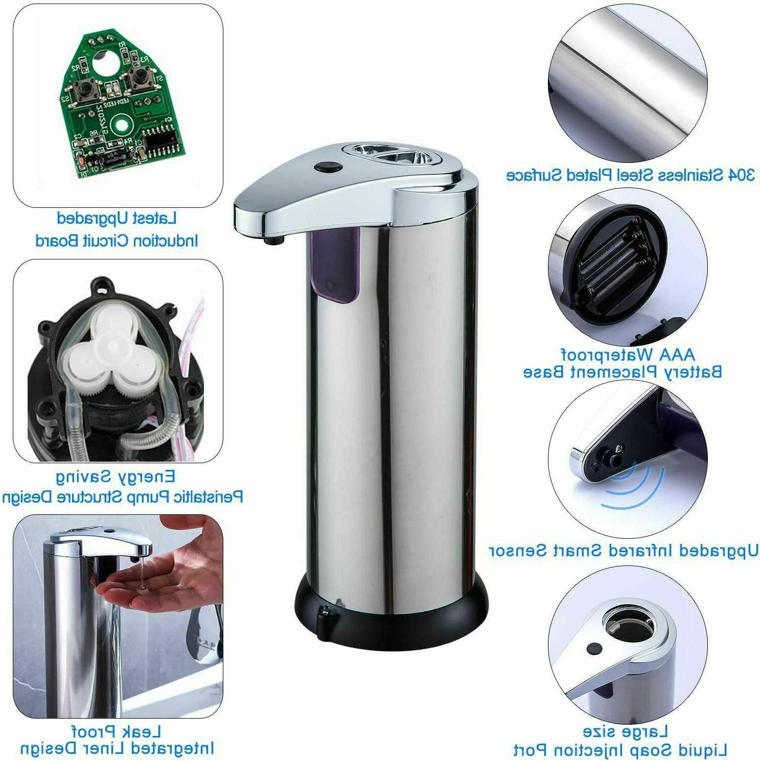 Stainless Dispenser Touchless Infrared Motion