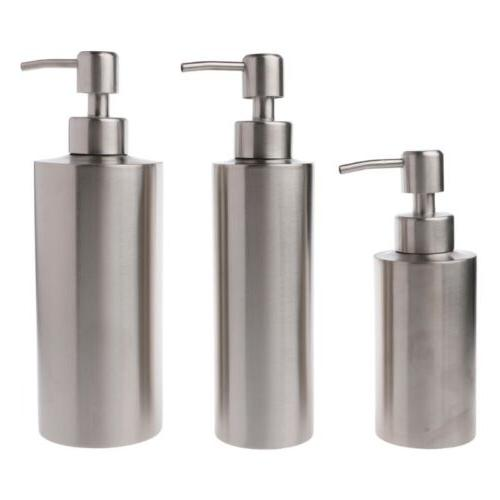 Stainless Soap Pump Bottle Gel Bottle