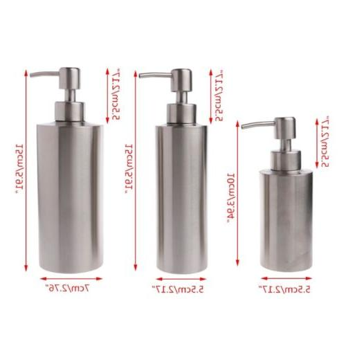 Stainless Pump Soap Lotion Dispenser Kitchen Bathroom Home