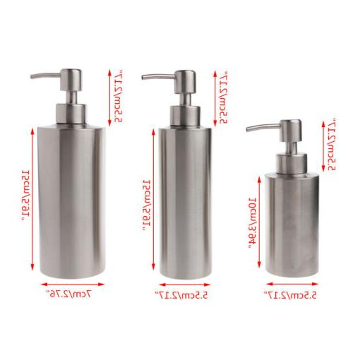 Stainless Steel Pump Bottle Bathroom Gel New