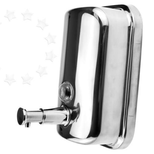 SW 500ml Wall Mount Soap Sanitizer Bathroom Shower Shampoo D