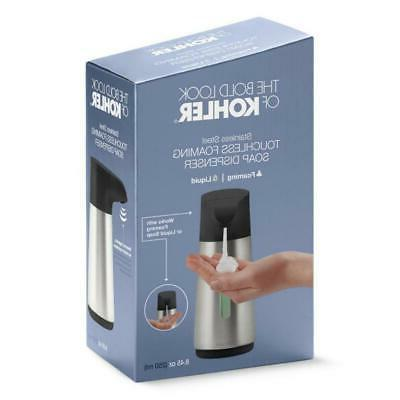 touchless foaming soap dispenser stainless clay 8637