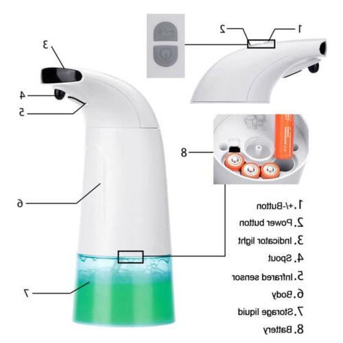 Touchless Infrared Motion Automatic Foam Hand Washer 250ML