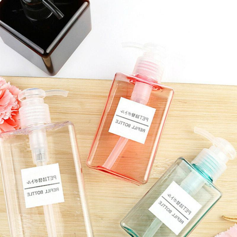 Travel Refillable Pump Bottles Plastic Soap Dispenser Square