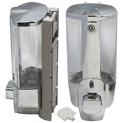 Soap Dispenser Bathroom Wall Mount Shower Shampoo Lotion Con