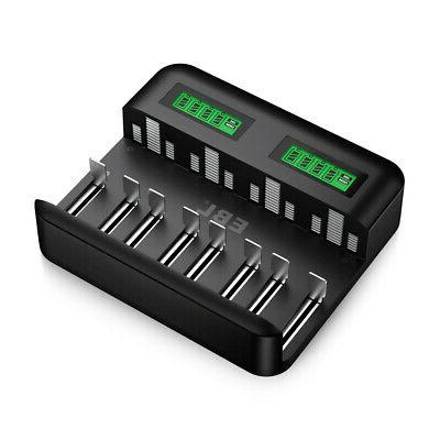 8 Rechargeable D Size Battery Charger Ni-Cd A