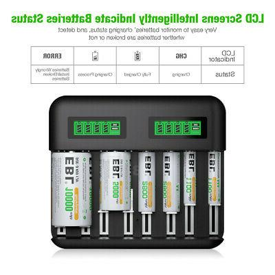 Rechargeable C D Battery Charger Ni-Cd A AAA