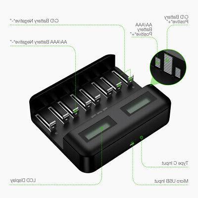 8 Slot LCD Smart Ni-Cd