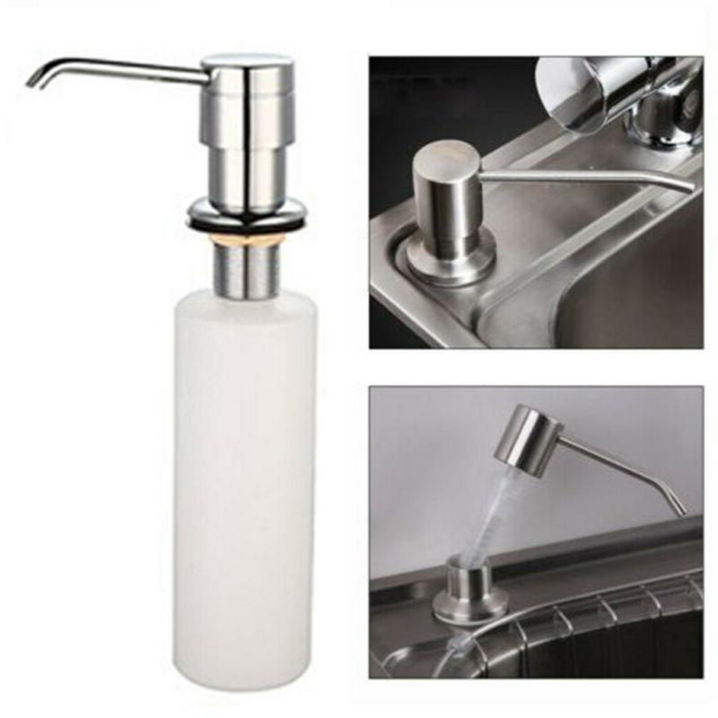 White Liquid Soap Dispenser Lotion Pump Cover Built in Kitch