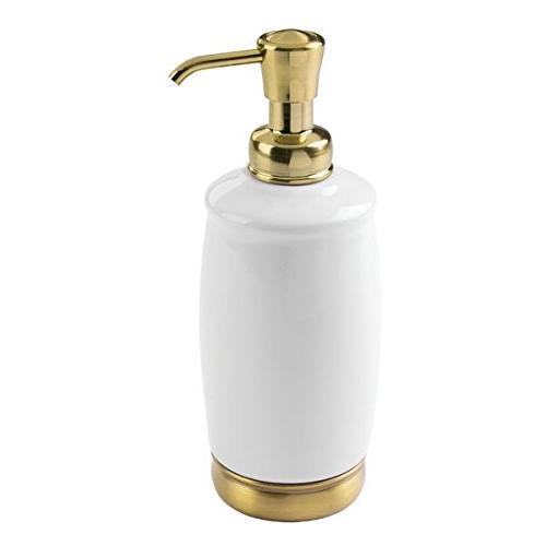 white soft brass finish york ceramic soap