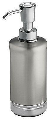 InteDesign 76350 York Bathroom Lotion/Soap Dispenser, Metal