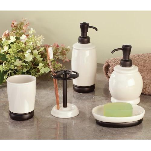 InterDesign Ceramic Soap and Pump, Bathroom