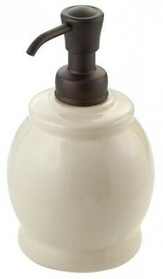 InterDesign York Ceramic Short Soap and Lotion Dispenser Pum