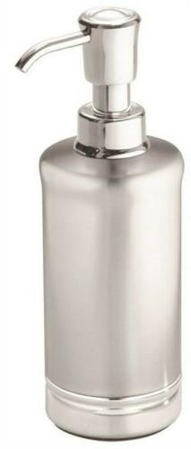 York Metal Soap Pump, Split Finish Stainless Steel - interDe