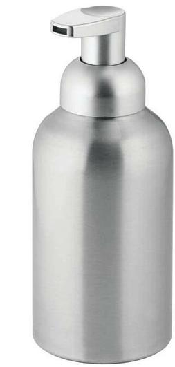 mDesign Large Modern Metal Foaming Soap Dispenser Pump Bottl