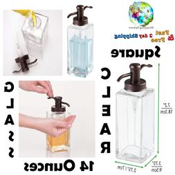 Liquid Dispenser Glass Pump Bottle Hand Soap Lotion Oils Kit