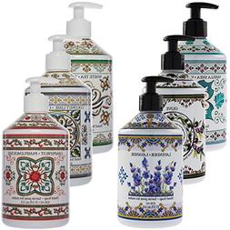 3 Pack Fruits & Flowers Liquid Hand Soap 21oz Pump Dispenser