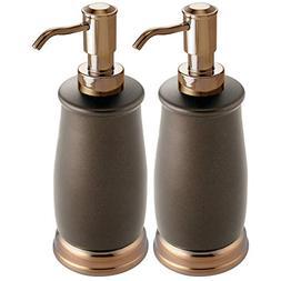 mDesign Liquid Hand Soap Dispenser Pump Bottle for Kitchen,